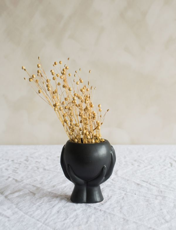 Small Hands Vase - Black