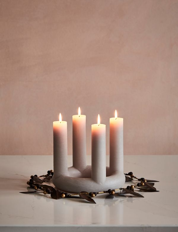St Lucia Advent Candle - Grey