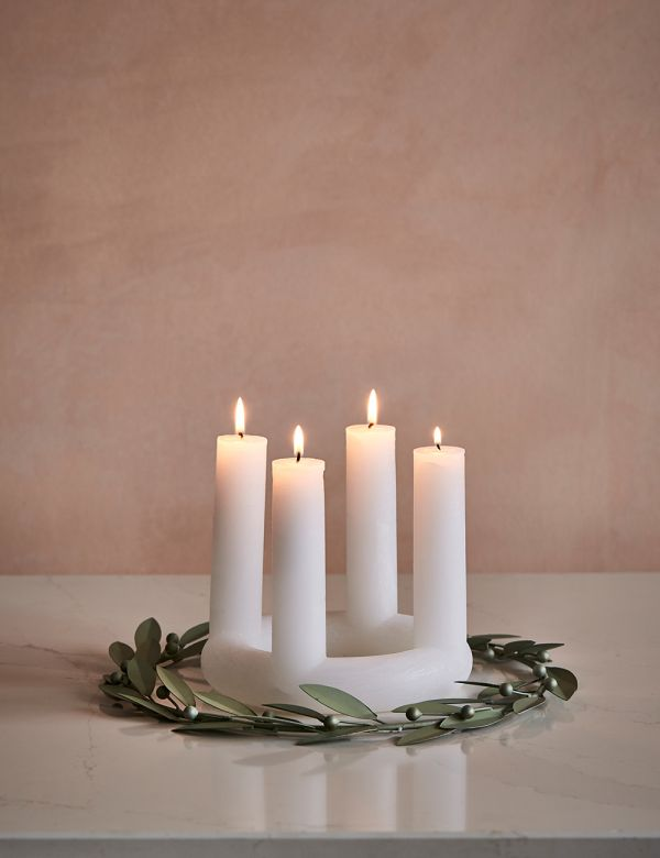 St Lucia Advent Candle - White