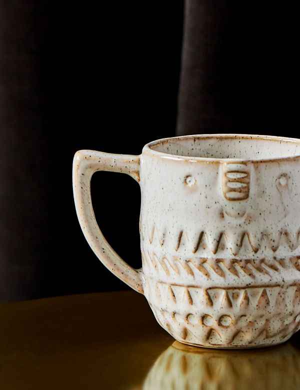 Stoneware Mug with Face