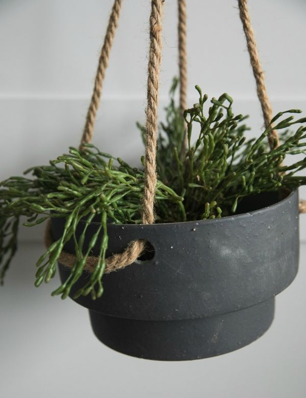 Ferm Living Stoneware & Rope Plant Hanger - Low