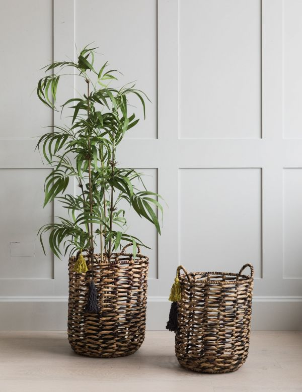 Tasseled Wicker Baskets