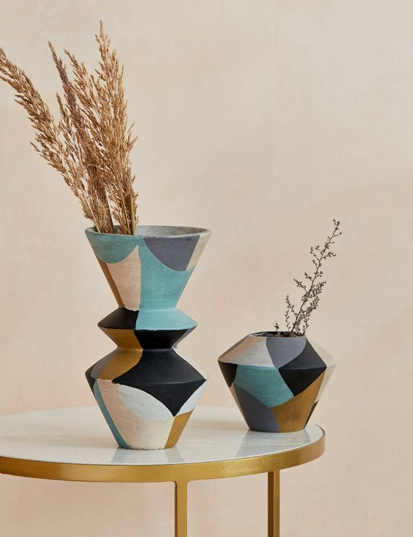 Terracotta Collage Vase - Two Sizes Available