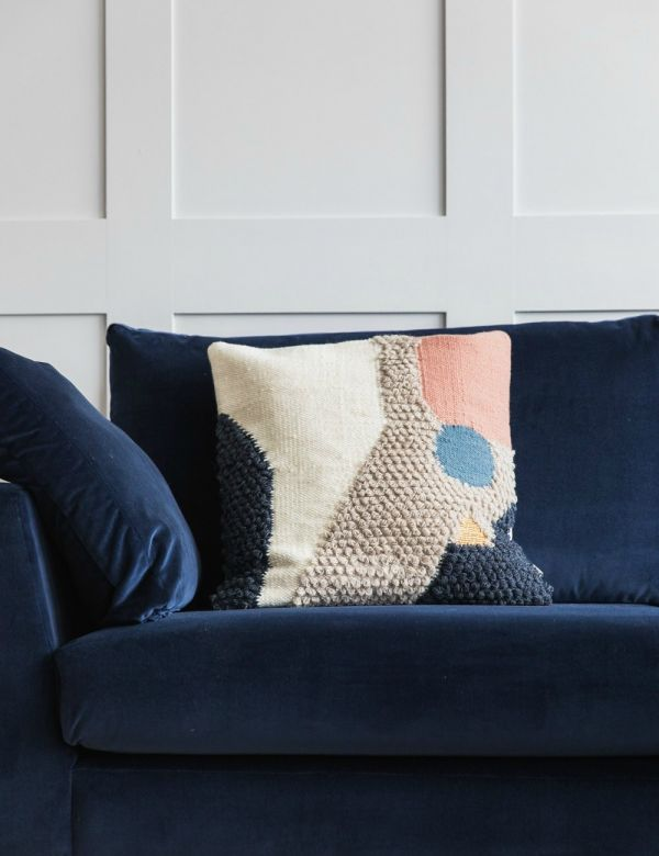 Textured Wool Abstract Cushion