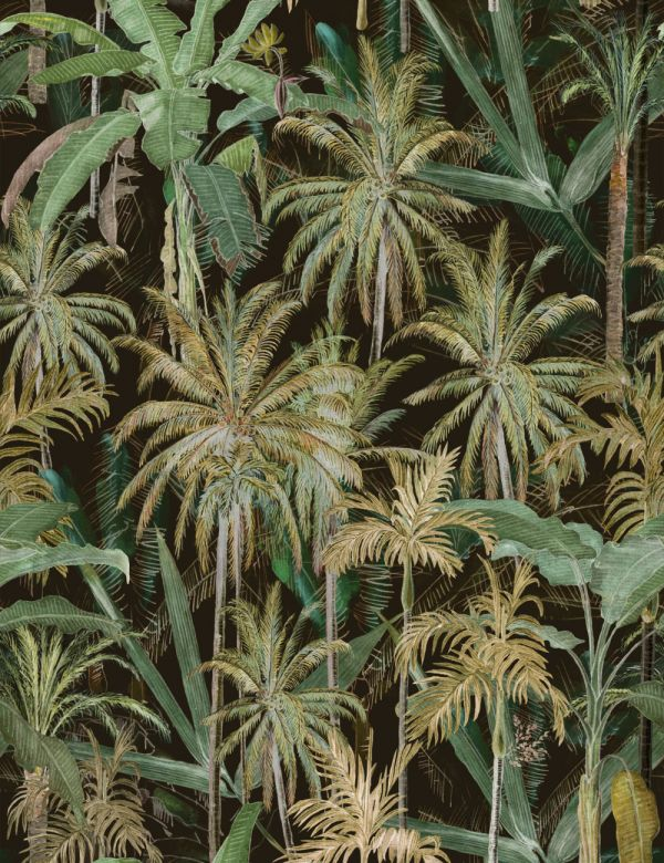 Mind The Gap Wallpaper Collection - The Jungle Anthracite
