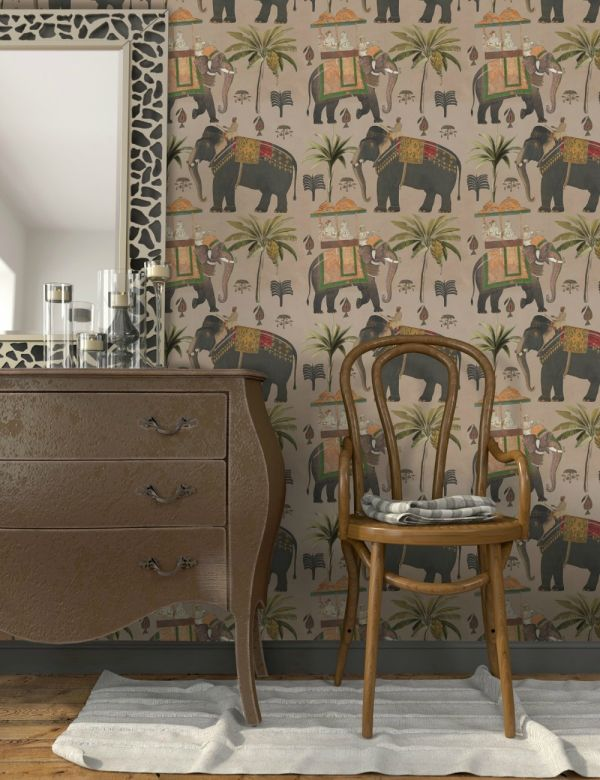 Mind The Gap Wallpaper Collection - The Procession Taupe