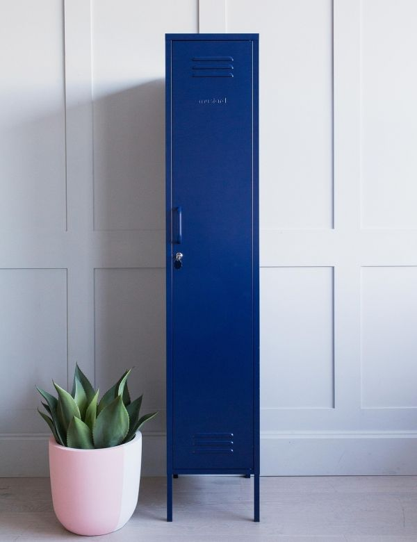 Mustard Made The Skinny Tall Locker - Navy Blue