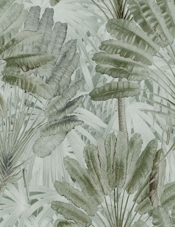 Mind The Gap Wallpaper Collection - Traveller's Palm Neutral