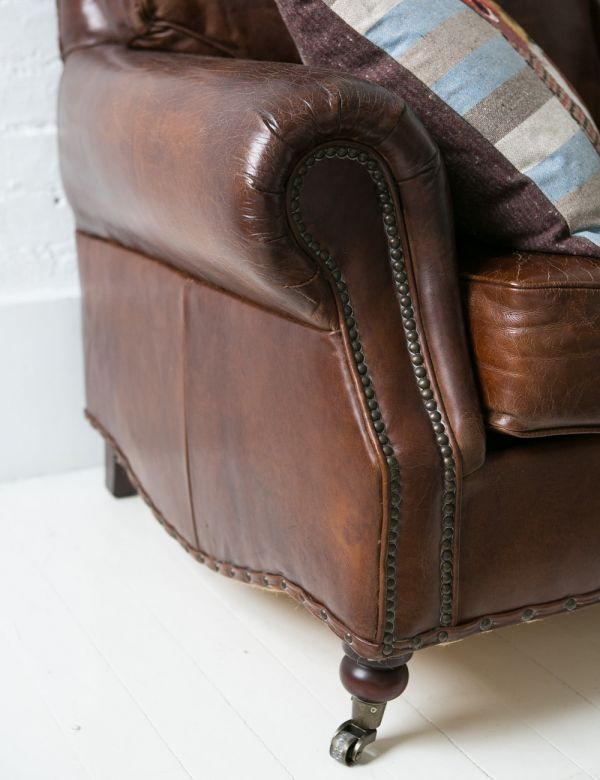 Vintage Leather Sofa - 2 Seater