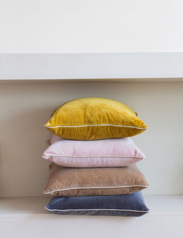 Velvet Square Cushion - Four Colours Available
