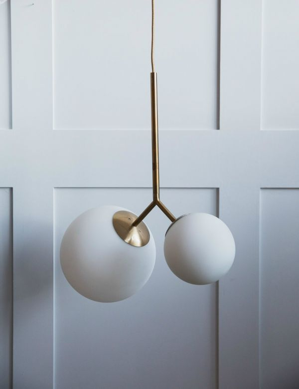 Venice Double Globe Pendant Light