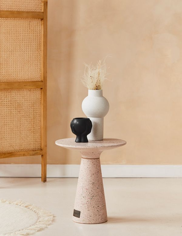 Victoria Pink Terrazzo Side Table
