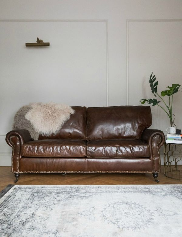 Vintage Leather Sofa - 3 Seater