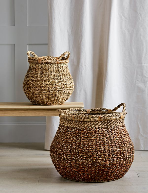 Water Hyacinth Storage Baskets - Two Sizes Available