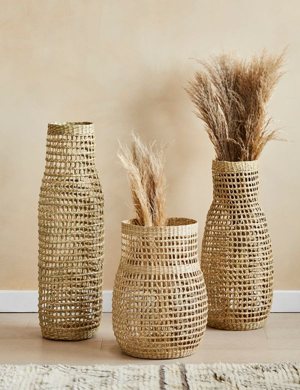 Wavy Seagrass Basket - Three Sizes Available