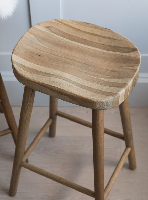 Weathered Oak Stool - Two Sizes Available