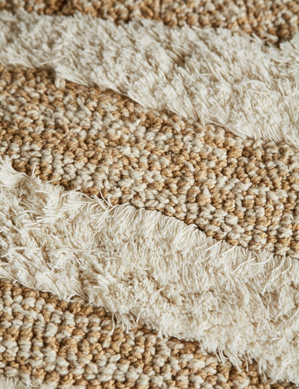 White and Beige Fluffy Cushion