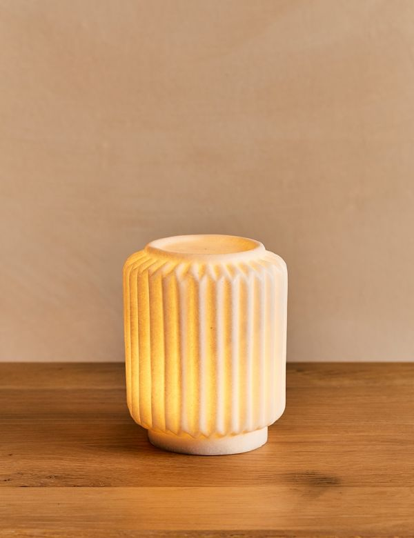 White Sandstone Norrsken Table Lamp