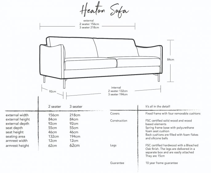Heaton Sofa Dimensions