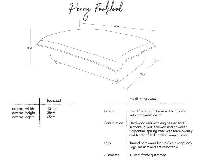Penny Footstool Dimensions
