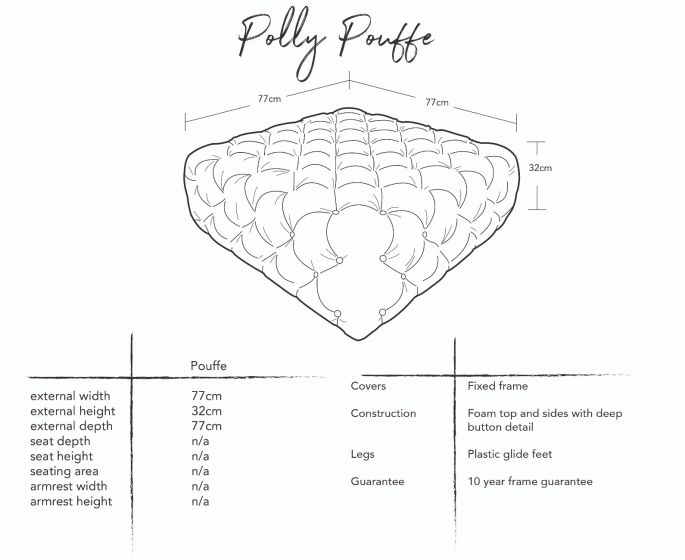 Polly Pouffe Dimensions