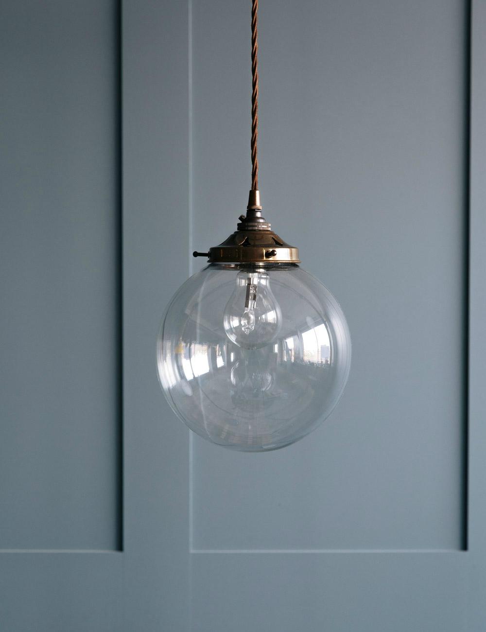 globe blown glass pendant light at rose grey. Black Bedroom Furniture Sets. Home Design Ideas