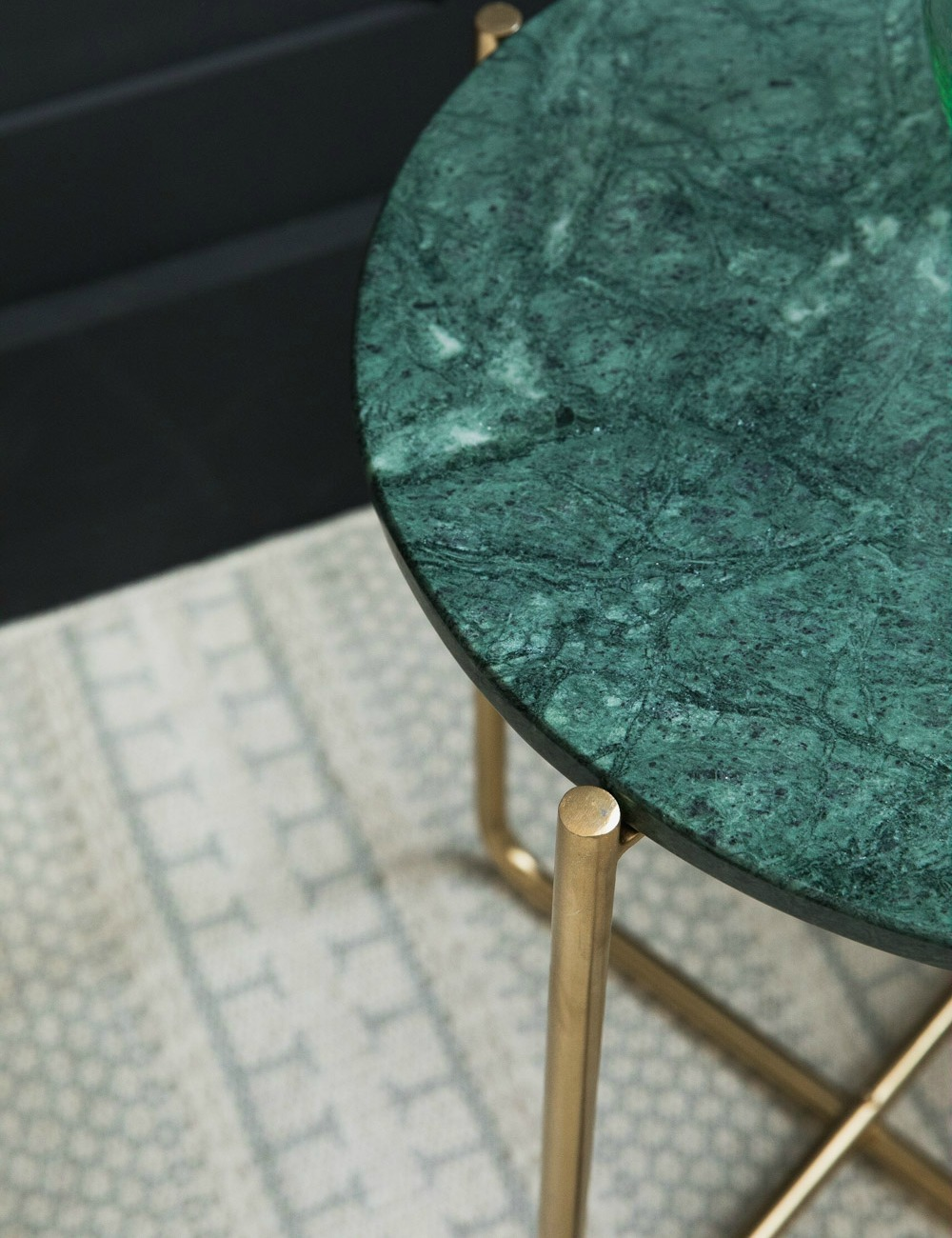 Green Marble Side Table Rose Grey