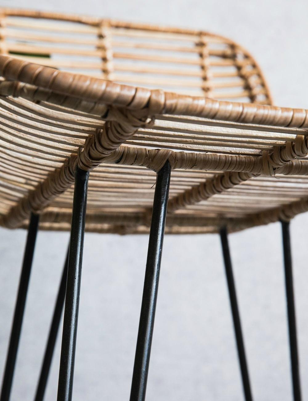 Strange Natural Rattan Bar Stool Machost Co Dining Chair Design Ideas Machostcouk