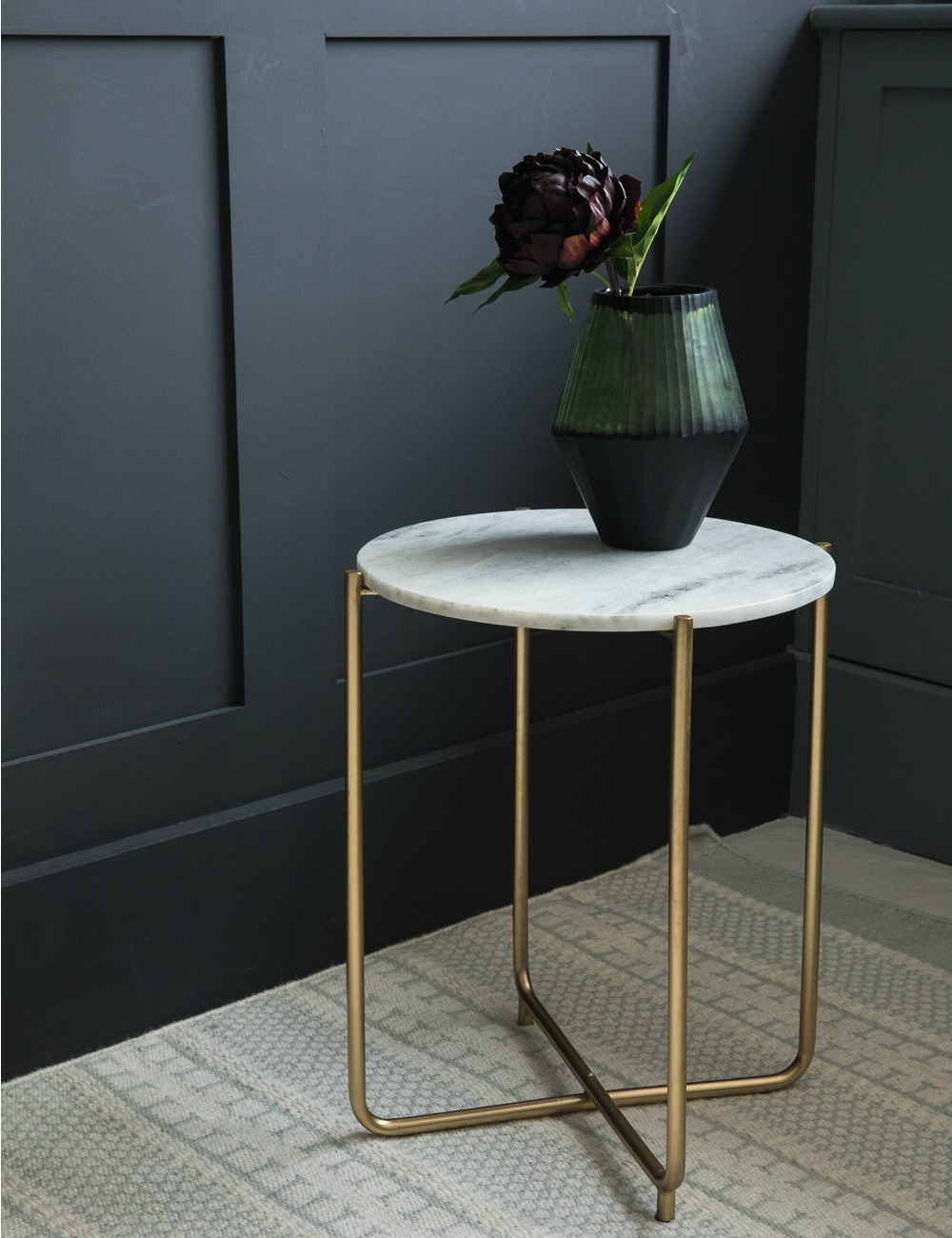 White marble side table at rose grey for White side table