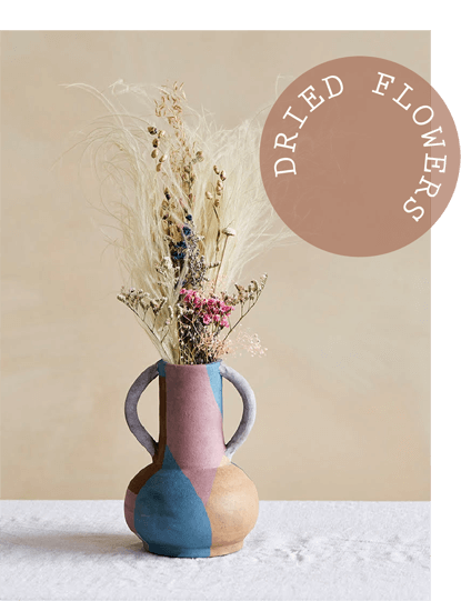 Read our top tips for styling dried flowers and grasses in your home