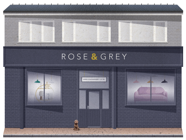 Rose and Grey Showroom